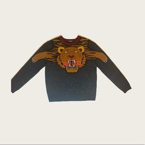 Kenzo Multicolor Intarsia Tiger Sweater